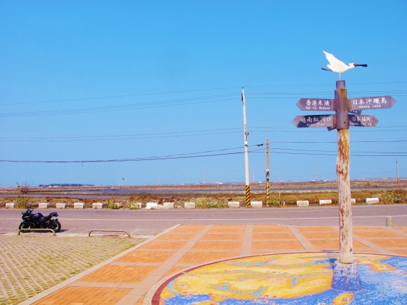 Outside the Black-faced Spoonbill visitor center, Qigu, January 27th.