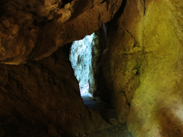 The trails at Sheding Nature Park pass through attractive limestone caves and tunnels.
