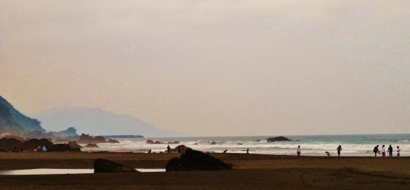 The beach at Wai-ao, Yilan County.