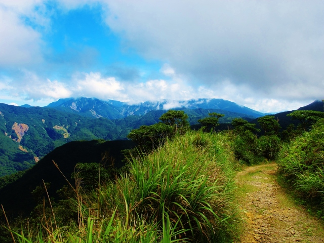 Scenery along the Dahanshan - Taitung County trail.